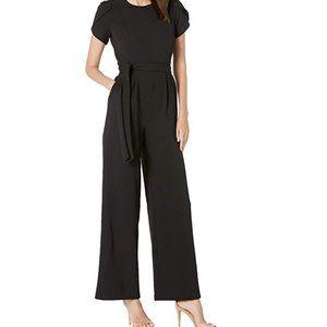NWT Calvin Klein Black Flutter Sleeve Jumpsuit